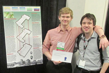 Ethan Seaman and Bill Preskenis with their third-place entry (against tough competition) at BuildingEnergy 14