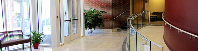 Ramp in Alumni Center