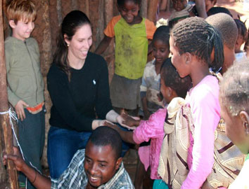Meg Henning on the job in Livingston, Zambia.