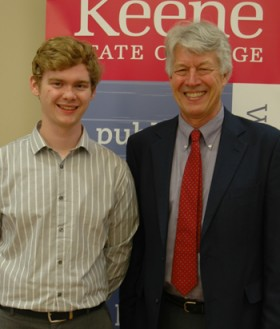 Ethan Seaman '14 and Prof. Peter Temple