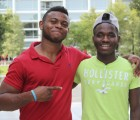 Promise Kpee (left) and Samuel Binogono, looking forward to the challenges of Keene State
