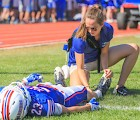 Mikaela Harding '14, head athletic trainer at Winnacunnet High School. (Matt Parker Photo)