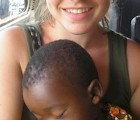 Katie Avener on a volunteer trip to Togo (West Africa).