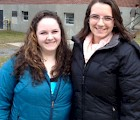 Sociology student researchers Ivy Stafford (left) and Alyssa DeMarco