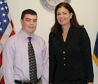 Sean Knox with his new boss, Senator Kelly Ayotte