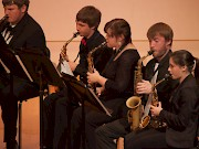 The Saxophone Ensemble joins the Brass Ensemble during the Nov. 22 concert.