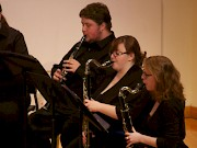 Students perform classical chamber music at the concert.