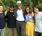L–R: Carey Citak, Christopher Swist, composer John Luther Adams, Amy Garapic, Jeremiah Burr