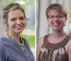 Health Science professors Karrie Kalich (l) and Becky Dunn