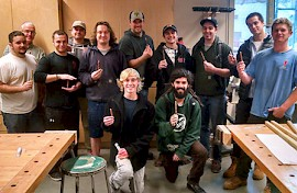 Keene State's Sustainable Product Design Class Goes Home for the Holidays