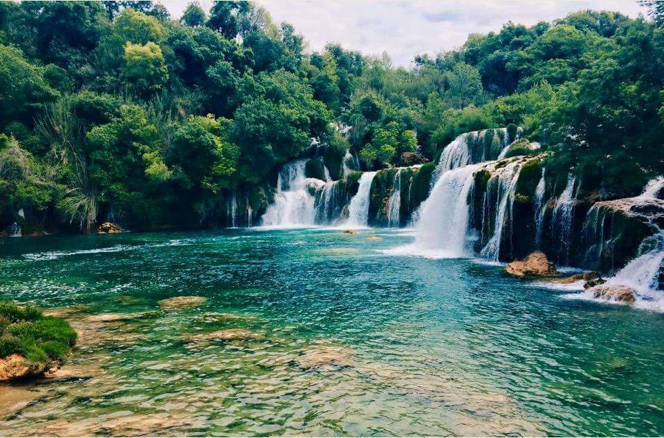 Kirka National Park (Croatia) - In this spectacular place, Kirka National Park, you are completely stunned by the beauty. Hundreds of waterfalls just like this make up the park. It was an absolutely amazing experience to see this in person. (Sara Garrey, University of Derby, England)