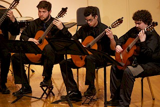 Students perform in the KSC Guitar Orchestra.