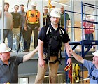 "The Technology, Design, and Safety Center's ""Safety Tower"" provided participants with hands-on fall protection."