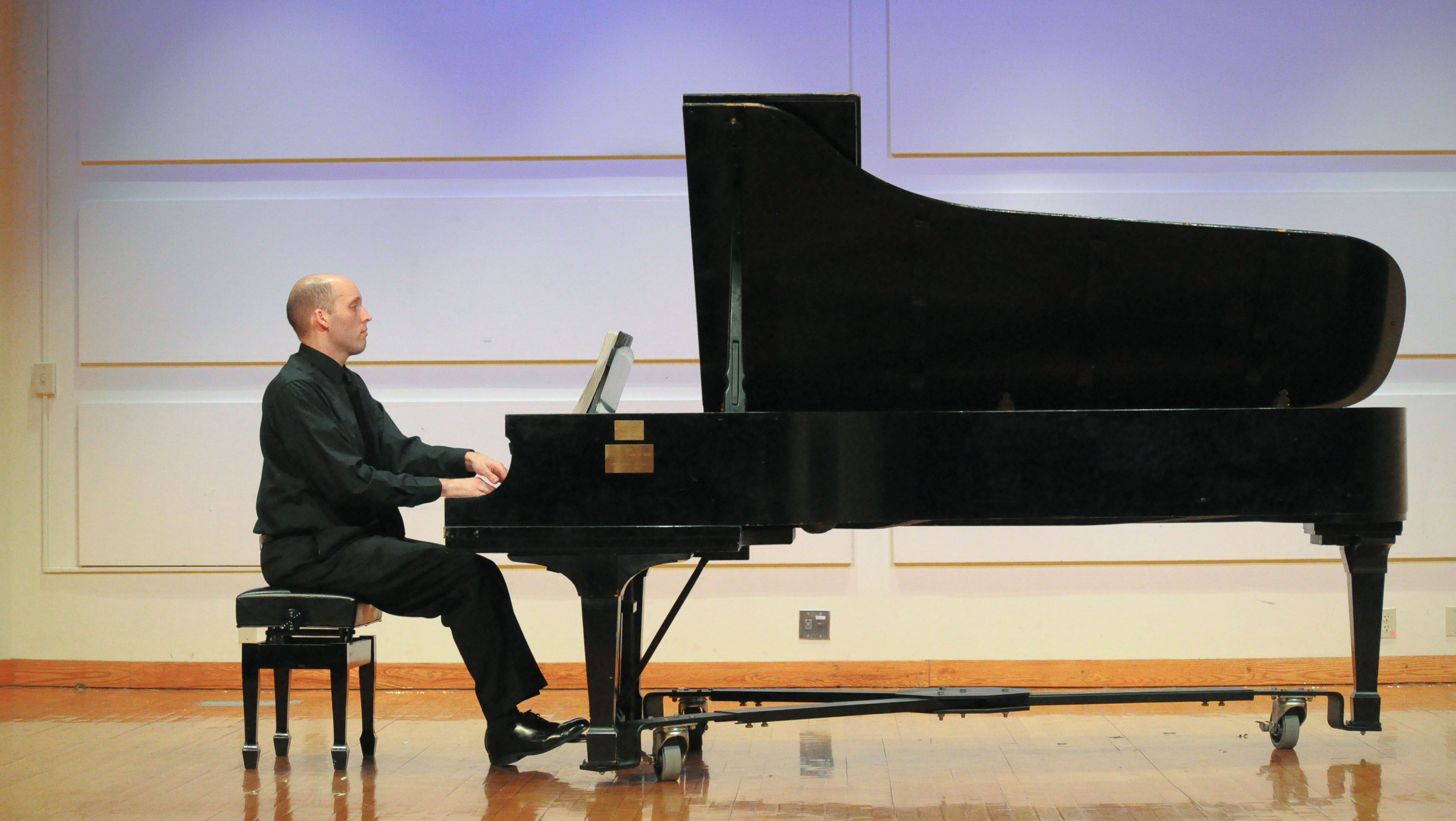 Pianist Matthew Odell performs at the Cohen Center lecture.