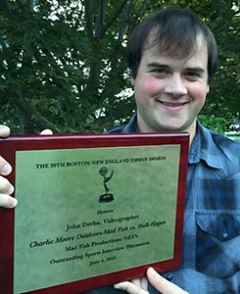 John Derba '13 Wins New England Emmy Award