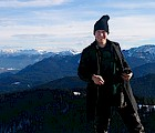 Film major/German minor Mikhail Lavrentyev, high in the Bavarian Alps