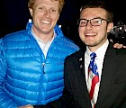 Massachusetts Congressman Joseph P. Kennedy III (left) with KSC student Joseph Stallcop