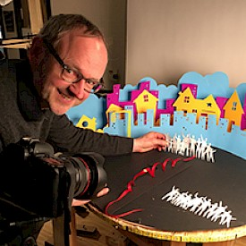Prof. Hoyt Designs Stop-Motion Animation to Celebrate Community