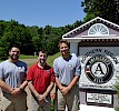 The commitment to serve runs deep in the Keene State community – and far. Mason Prada '16 (left), David Condlin '10 (middle), Braden Ladago '16 (right) at the AmeriCorps NCCC campus in Vicksburg, Mississippi.