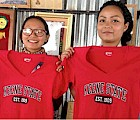 The first Nepalese women to benefit from Keene State's new partnership with the Little Sisters Fund, Benajil Rai (left) and Puja Thapa
