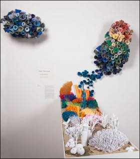 """Coral Reef Warming,"" sculpture by Rachel Mangean."