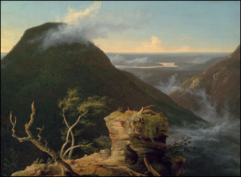 View of the Round-Top in the Catskill Mountains,   a photograph of an oil painting by Thomas Cole, founder of the Hudson River School