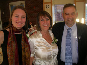 Susan Herman Award winners Gretchen Steidle Wallace and Marjorie Margolis with Dr. Michael Berenbaum.
