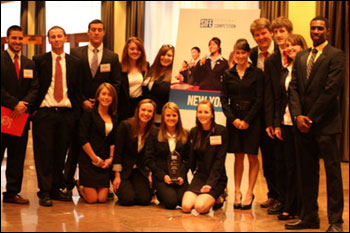 KSC management students with their trophy at the SIFE Regional Competition