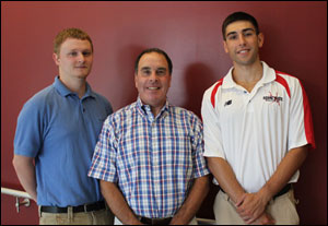 KSC Sports Information Staff Mike Steiner, Stuart Kaufman and Christian Harrison