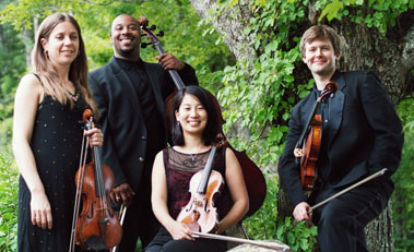 Apple Hill String Quartet performs with MIT composer Christine Southworth on April 3 at the Redfern Arts Center
