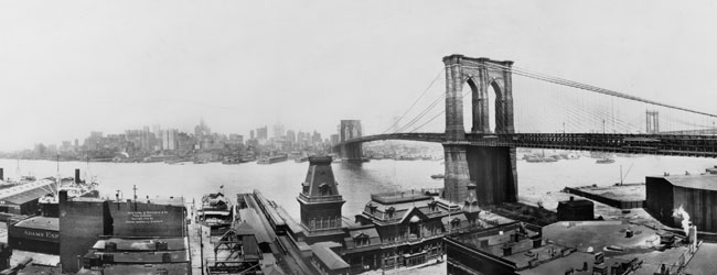 New York & bridges from Brooklyn; Irving Underhill, 1913