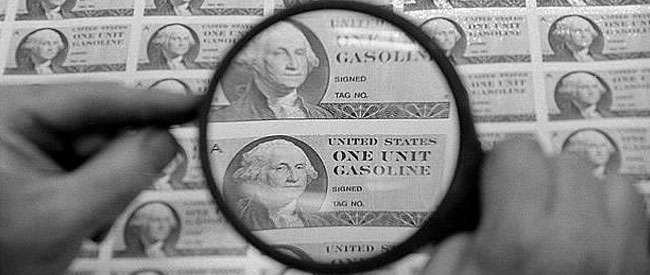 Gasoline rations - Bureau of Engraving and Printing