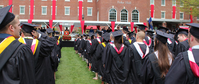 Scene from Commencement 2012