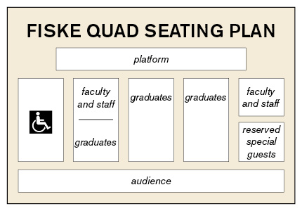 Fiske Quad Seating Plan