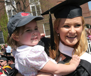 Graduate with child