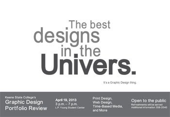 Graphic Design show on April 19, 2013