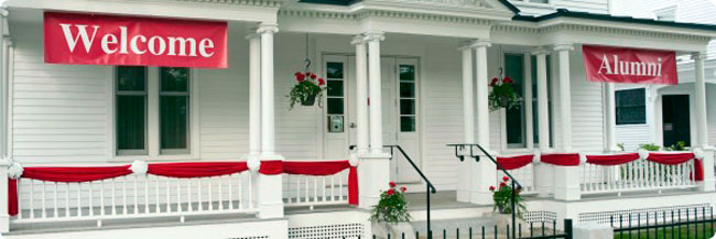 Alumni Center Porch