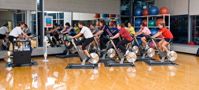 Recreation Center Spin Class