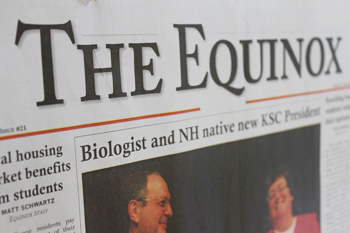 "KSC's Student Newspaper, ""The Equinox"""