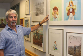 Dr. David White with the Children's Literature Festival Gallery Collection