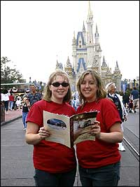 Kristy Doucette '99 and Alison Thompson '04 visited Disney World this past February.  Mickey and friends loved the Red Sox T-shirts.