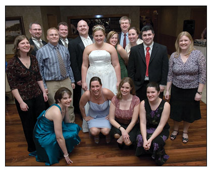 Vanessa Weatherbee '03 and Eric Lofstedt '04 wedding photo.