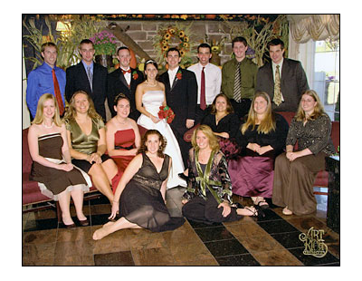 Danielle Marie Popyk '03 and Benjamin David Spaulding wedding photo.