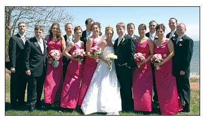 Bobby Gaudreau and Erika Jensen wedding photo.