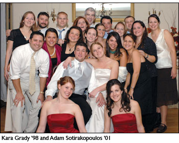 Wedding photo: Kara Grady '98 and Adam Sotirakopoulos '01