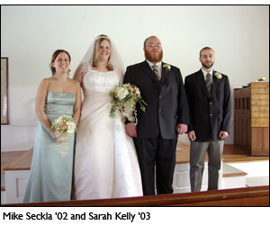 Wedding photo: Mike Seckla '02 and Sarah Kelly '03