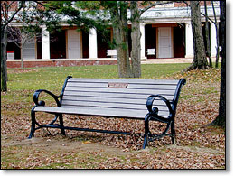 Memorial Bench photo by Chris Justice
