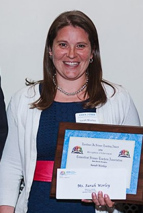 Sarah (Howard) Worley '01, winner of Connecticut's Excellence In Elementary School Science Teaching Award