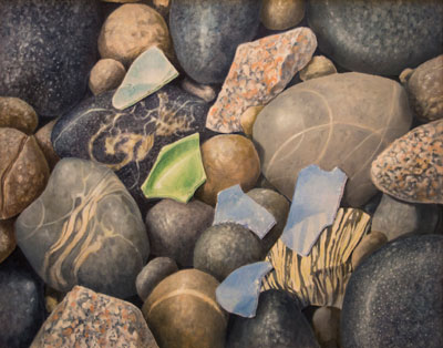 Robert H. Seaman: Sea Glass III - Oil on Canvas