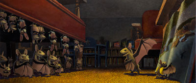 """Bats at the Library,"" written and illustrated by Brian Lies."